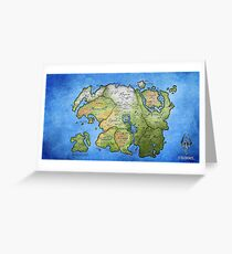 Elder Scrolls Map Greeting Card