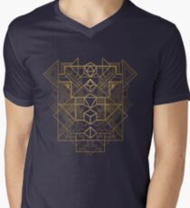 Dice Deco Gold Men's V-Neck T-Shirt
