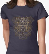 Dice Deco Gold Women's Fitted T-Shirt