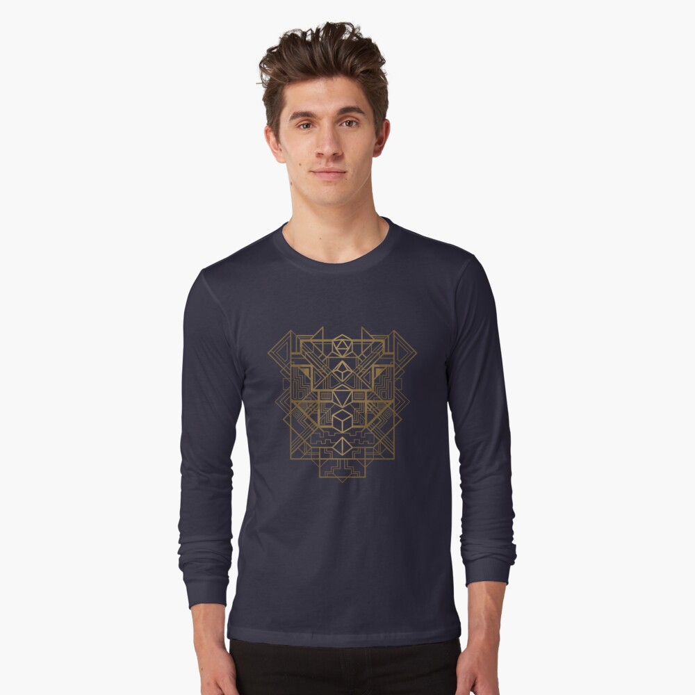 Dice Deco Gold Long Sleeve T-Shirt