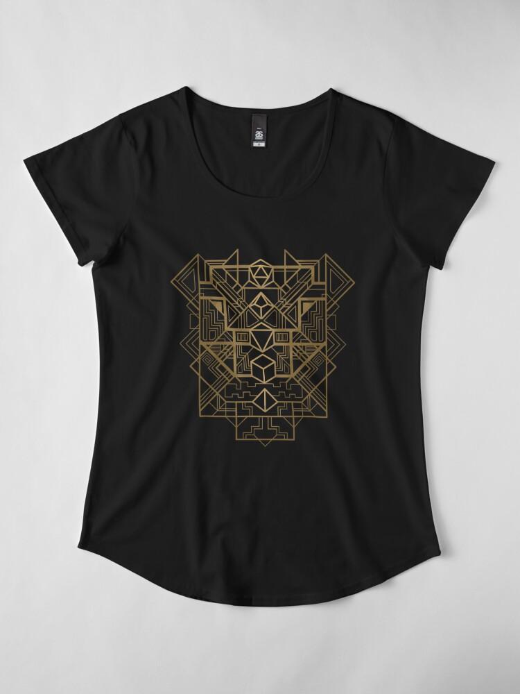 Alternate view of Dice Deco Gold Premium Scoop T-Shirt