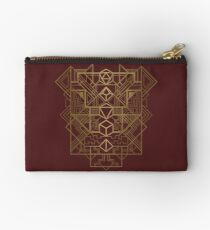 Dice Deco Gold Studio Pouch