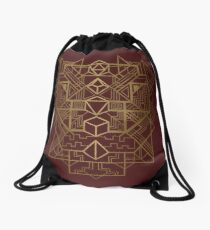 Dice Deco Gold Drawstring Bag