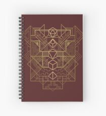 Dice Deco Gold Spiral Notebook