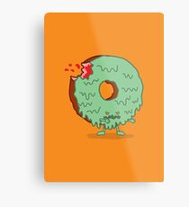 The Zombie Donut Metal Print