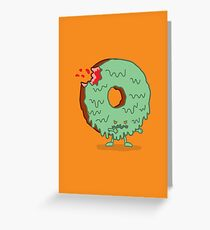 The Zombie Donut Greeting Card