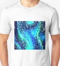 Psychedelic gliiter space swirls  T-Shirt