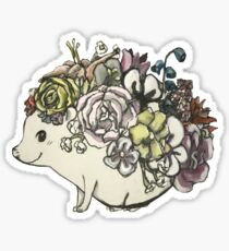 Flower Hedgehog Sticker