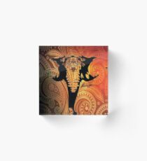 Exotic Elephant Acrylic Block