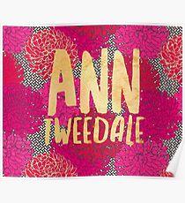 Ann Tweedale Tapestry - Red Floral Poster