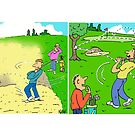 Golfer is Stuck in a Bunker by Nigel Sutherland