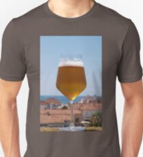 Beer glass against the sky Unisex T-Shirt