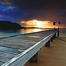 Little Beach Aglow by Centralian Images