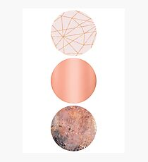 Pink and Copper Minimalism Photographic Print