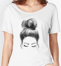 Messy Bun Women's Relaxed Fit T-Shirt