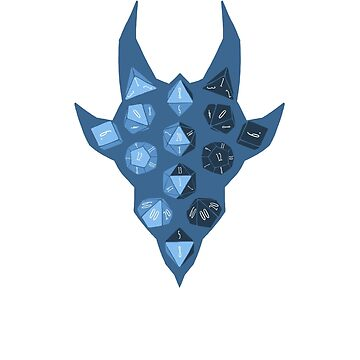 Dice Dragon - Blue by DinobotTees