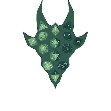 Dice Dragon - Green by DinobotTees