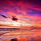 Birubi Point Sunset by Centralian Images