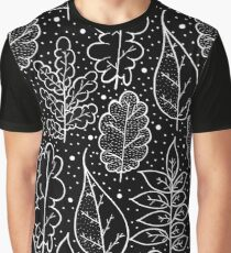 Leafs of autumn (black and white) Graphic T-Shirt