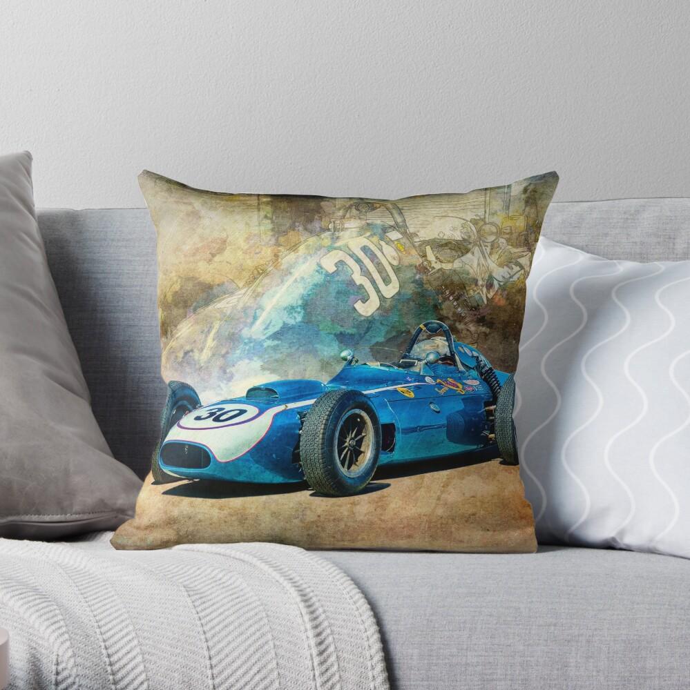 1960 Scarab F1 Car Throw Pillow