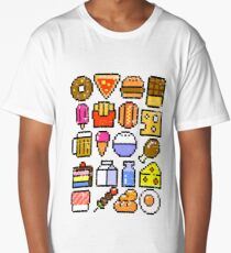 8 bit Foodie v2 Long T-Shirt