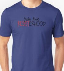 Join the Resisterhood (black & red) T-Shirt