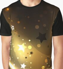 Abstract Background with Golden Stars Graphic T-Shirt