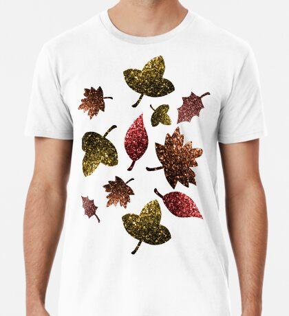 Sparkly leaves fall autumn sparkles pattern Men's Premium T-Shirt