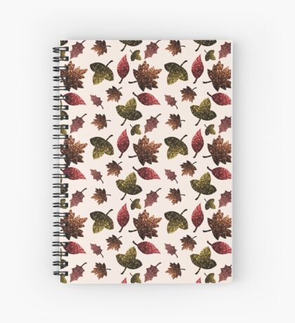 Sparkly leaves fall autumn sparkles pattern Spiral Notebook