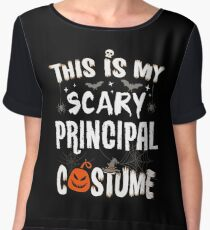 This is my Scary Principal Costume Halloween Funny Chiffon Top