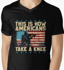 This is How Americans Take a Knee - Boycott the NFL T-Shirt