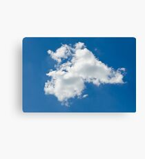lone cloud in the pure blue sky Canvas Print