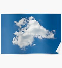 lone cloud in the pure blue sky Poster