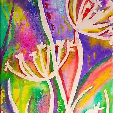 Rainbow flower silhouette by LaHickmana