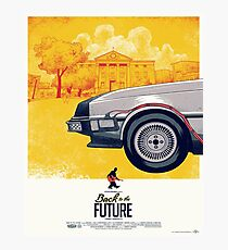 Back to the Future - Retro Poster Photographic Print