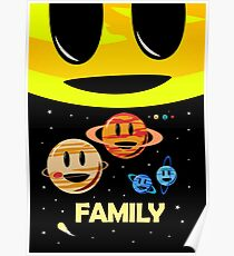 Solar System Family (to scale) Poster