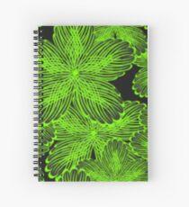 NIGHT FLOWERS Spiral Notebook