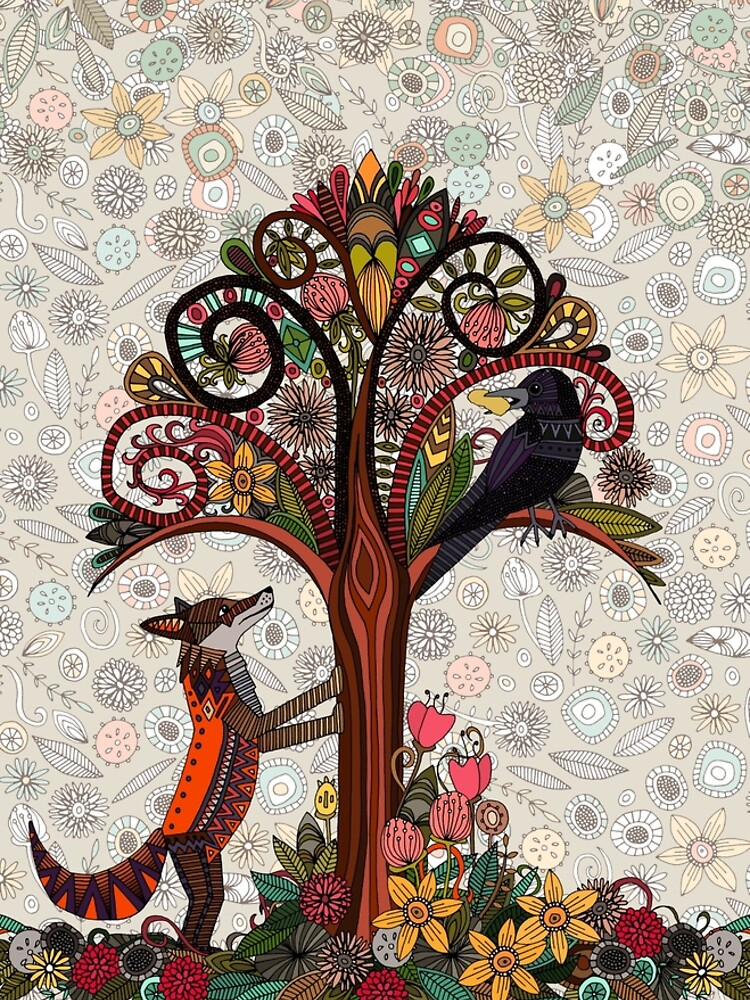 fox and crow by scrummy