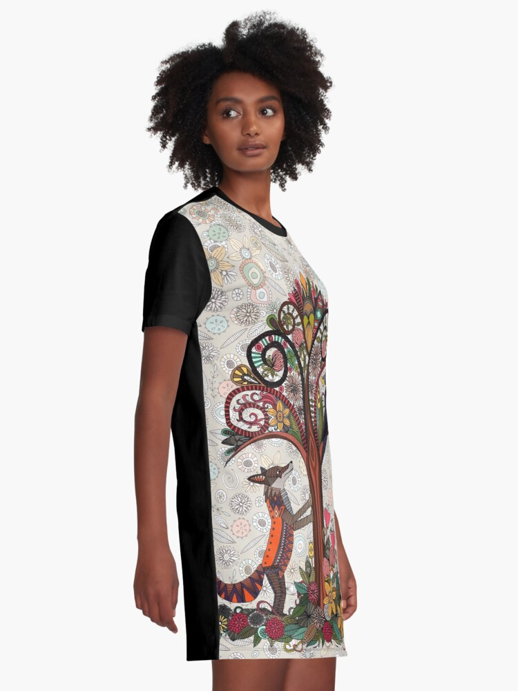 Alternate view of fox and crow Graphic T-Shirt Dress