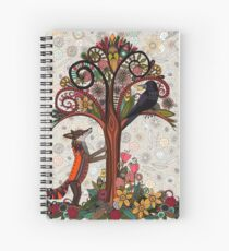 fox and crow Spiral Notebook