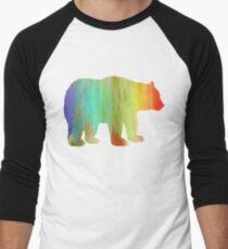 Rainbow Watercolor Dripping  Bear T-Shirt