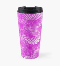 Pink Hydrangea Floral Travel Mug