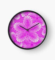 Pink Hydrangea Floral Clock