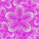 Pink Hydrangea Floral by Claire Lydia Ray