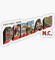 Greetings from Durham, North Carolina Sticker