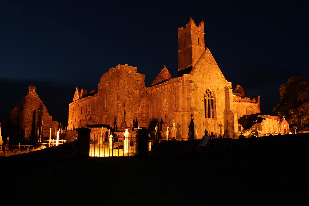 Quin Abbey at night by John Quinn