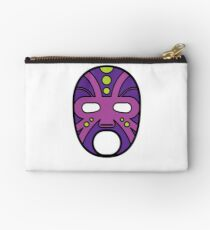 """""""Lucha Libre"""" (Free Fight) Mexican Wrestling Mask Purple Zipper Pouch"""