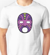 """""""Lucha Libre"""" (Free Fight) Mexican Wrestling Mask Purple Slim Fit T-Shirt"""
