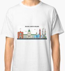 Belfast, North Ireland City Skyline Design Classic T-Shirt