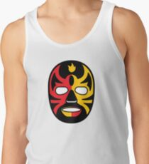 """""""Lucha Libre"""" (Free Fight) Mexican Wrestling Mask Red & Yellow Fire Tank Top"""